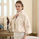 cheap Wedding Wraps-Faux Fur Wedding / Party / Evening Women's Wrap With Buttons / Fur Shrugs