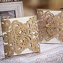 hesapli Düğün Davetiyeleri-Şal ve Cep Düğün Davetiyeleri 20 - Davet Kartları Klasik Stil Kabartılmış Kağıt