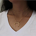 cheap Men's Necklaces-Women's Layered Necklace - Moon Fashion Gold, Silver Necklace For Daily, Casual