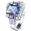 cheap Rings-Women's Cubic Zirconia Engagement Ring - Zircon, Alloy Luxury, Classic, Basic 6 / 7 / 8 Purple For Wedding / Party / Birthday