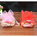 cheap Favor Holders-Cylinder Material / Organza Favor Holder with Dot / Pattern Favor Boxes / Favor Bags / Others - 50