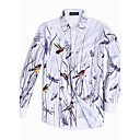 cheap Men's Rings-Men's Chinoiserie Plus Size Shirt - Floral Animal