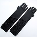cheap Party Gloves-Spandex Fabric Elbow Length Glove Classic Style / Bridal Gloves / Party / Evening Gloves With Ruffles