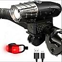 זול פנסי אופניים-פנס קדמי לאופניים / פנס אחורי לאופניים / ערכת תאורה נטענת לאופניים LED LED רכיבת אופניים נייד, מקצועי, מתכוונן Li-ion 350 lm USB לבן קר / אדום