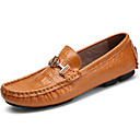 cheap Men's Oxfords-Men's Moccasin Nappa Leather Fall / Winter Loafers & Slip-Ons Black / Brown / Blue / Party & Evening