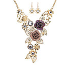 cheap Religious Jewelry-Women's Statement Necklace - Rhinestone, Rose Gold Plated Flower, Fox Statement, Vintage Gold Necklace For Stage, Work