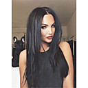 cheap Human Hair Wigs-Straight Synthetic Hair Black Wig Women's Long Capless