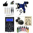cheap Starter Tattoo Kits-Tattoo Machine Starter Kit - 1 pcs Tattoo Machines with 7 x 15 ml tattoo inks, Professional LED power supply Case Included 1 rotary machine liner & shader