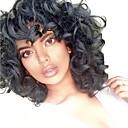 ieftine Acțibilde,Etichete-Peruci Sintetice Buclat Păr Sintetic Perucă Americană Africană Negru Perucă Pentru femei Mediu Fără calotă
