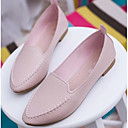 cheap Women's Slip-Ons & Loafers-Women's Shoes PU(Polyurethane) Spring / Fall Moccasin Loafers & Slip-Ons Flat Heel White / Blue / Pink