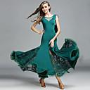 cheap Dance Accessories-Ballroom Dance Women's Performance Lace Tulle Ice Silk Lace Sleeveless Dress