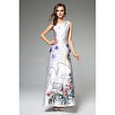 cheap Earrings-SHE IN SUN Women's Work Sophisticated Street chic Swing Dress - Floral Maxi