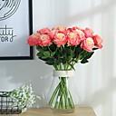 tanie Sztuczny kwiat-2 Gałąź Poliester Roses Bukiety na stół Sztuczne Kwiaty