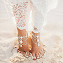 cheap Sensors-Layered Anklet - Drop Multi Layer Gold / Silver For Going out / Bikini / Women's / Rhinestone