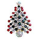 preiswerte Modische Broschen-Damen Broschen - Strass Baum des Lebens Einfach, Süß Brosche Gold / Silber Für Weihnachten / Geschenk