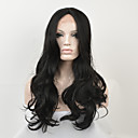 cheap Synthetic Lace Wigs-Synthetic Lace Front Wig Women's Wavy Black Synthetic Hair Middle Part Black Wig Long Lace Front Natural Black