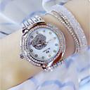 billiga Högklackade damskor-Dam Armbandsur Diamond Watch Japanska Quartz Rostfritt stål Silver 30 m Vardaglig klocka Ramtyp damer Berlock - Silver