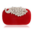 cheap Clutches & Evening Bags-Women's Bags Polyester Evening Bag Crystals Red / Purple / Fuchsia