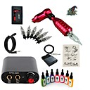 cheap Starter Tattoo Kits-Tattoo Machine Starter Kit - 1 pcs Tattoo Machines with 7 x 15 ml tattoo inks, Professional Mini power supply Case Not Included 1 rotary