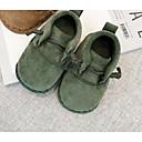 זול נעלי תינוקות-נעליים בד סתיו / חורף נוחות שטוחות ל תינוק ירוק / חום כהה