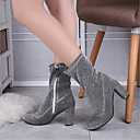 cheap Chandeliers-Women's Shoes Synthetic Microfiber PU / Spandex Fabric Fall / Winter Combat Boots / Slouch Boots Boots Chunky Heel Pointed Toe Mid-Calf