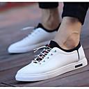 זול סניקרס לנשים-בגדי ריקוד גברים PU אביב / קיץ נוחות נעלי ספורט לבן / שחור