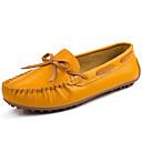 baratos Mocassins Femininos-Mulheres Sapatos Pele Napa Outono / Inverno Mocassim Sapatos de Barco Preto / Laranja / Amarelo
