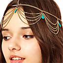 cheap Body Jewelry-Women's Alloy Turquoise Head Chain