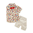 cheap Boys' Clothing Sets-Boys' Clothing Set, Cotton Summer Short Sleeves Beige