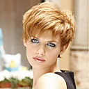 cheap Synthetic Wigs-Human Hair Capless Wigs Human Hair Straight Side Part Short Machine Made Wig Women's