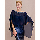 cheap Abstract Paintings-Chiffon Wedding / Party / Evening Women's Wrap With Beading / Buttons Capes