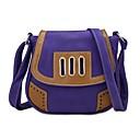 cheap Clutches & Evening Bags-Women's Bags PU Crossbody Bag Zipper Coffee / Light Purple / Khaki