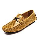 baratos Sapatilhas e Mocassins Masculinos-Homens Sapatos Confortáveis Couro Primavera / Outono Mocassins e Slip-Ons Preto / Azul Escuro / Amarelo