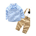 cheap Baby Boys' Clothing Sets-Baby Boys' Solid Color / Embroidered Long Sleeve Clothing Set