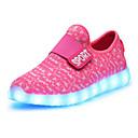 halpa Lasten lenkkarit-Tyttöjen Kengät Nahka Kevät Välkkyvät kengät Uutuus Comfort Lenkkitossut LED Tarranauhalla varten Kausaliteetti ulko- Musta Harmaa