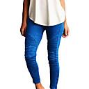 abordables Vajillas-Mujer Básico Legging - Un Color Media cintura