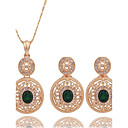 cheap Earrings-Women's Cubic Zirconia Jewelry Set - Cubic Zirconia Include Gold For Wedding / Party
