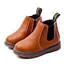 levne Chlapecká obuv-Chlapecké Boty Syntetické mikrovlákno PU Zima Pohodlné / Obuv military styl Boty pro Černá / Šedá / Hnědá