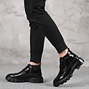זול מגפיים לגברים-בגדי ריקוד גברים Fashion Boots עור אביב / סתיו מגפיים מגפונים\מגף קרסול שחור / אדום