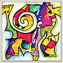 abordables Cuadros Abstractos-Pintura al óleo pintada a colgar Pintada a mano - Abstracto Abstracto Pastoral Realismo Lona