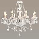billige Lysekroner-LWD 8-Light Candle-stil Lysekroner Opplys Andre Glass Krystall, Justerbar, designere 110-120V / 220-240V Pære ikke Inkludert / E12 / E14