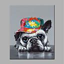 preiswerte Tiergemälde-Hang-Ölgemälde Handgemalte - Pop - Art Modern Segeltuch