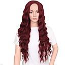 olcso Szintetikus parókák-Szintetikus parókák Szintetikus haj Középső rész Piros Paróka Női Hosszú Sapka nélküli