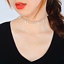 cheap Anklet-Women's Crystal Choker Necklace - Zircon Drop Fashion, Bling Bling Gold, Silver Necklace For Birthday, Graduation, Gift