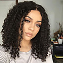baratos Um pacote de cabelo-Cabelo Humano Parte U Peruca Kinky Curly Peruca Corte em Camadas / Com Cabelo Baby 130% Riscas Naturais / Para Mulheres Negras / 100% Virgem Mulheres Curto / Médio / Longo / Brasileiro