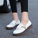 cheap Women's Oxfords-Women's Shoes PU(Polyurethane) Spring / Fall Mary Jane Oxfords White / Black / Yellow