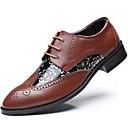 זול נעלי אוקספורד לגברים-בגדי ריקוד גברים סינטתי סתיו / חורף נעליים פורמלית נעלי אוקספורד שחור / חום / מסיבה וערב
