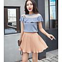 זול ארנקים-חצאית אחיד - חולצה כותנה בגדי ריקוד נשים