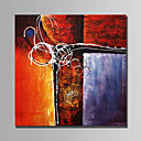 cheap Abstract Paintings-Oil Painting Hand Painted - Abstract Abstract Canvas / Stretched Canvas