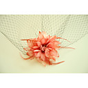 cheap Eyeshadows-Tulle / Fabric / Net Flowers / Birdcage Veils with Feather 1 Wedding / Special Occasion / Event / Party Headpiece
